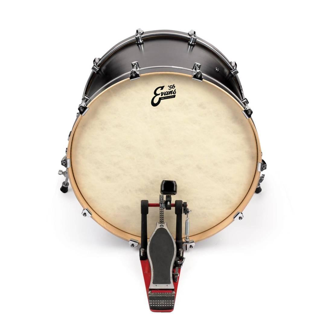 evans eq4 calftone bass drum head 18 inch long mcquade musical instruments. Black Bedroom Furniture Sets. Home Design Ideas