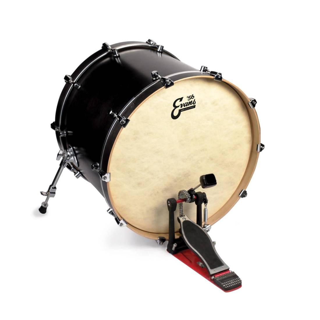 evans eq4 calftone bass drum head 24 inch long mcquade musical instruments. Black Bedroom Furniture Sets. Home Design Ideas