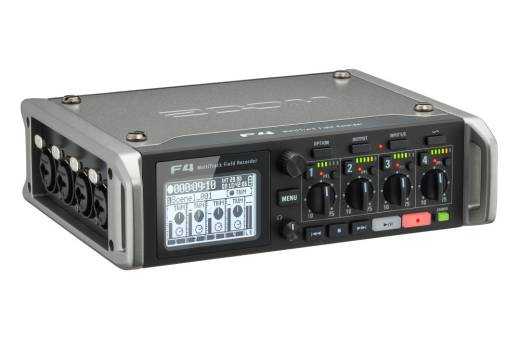 F4 Multitrack Field Recorder with Timecode - 6 Inputs, 8 Tracks