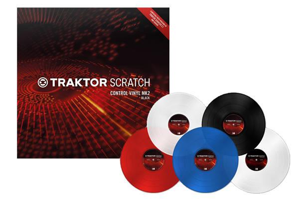 native instruments traktor scratch control vinyl mk2 red long mcquade musical instruments. Black Bedroom Furniture Sets. Home Design Ideas