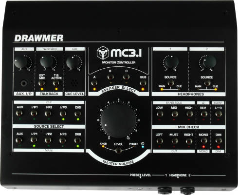 MC3.1 Studio Monitor Controller with 5 Sources