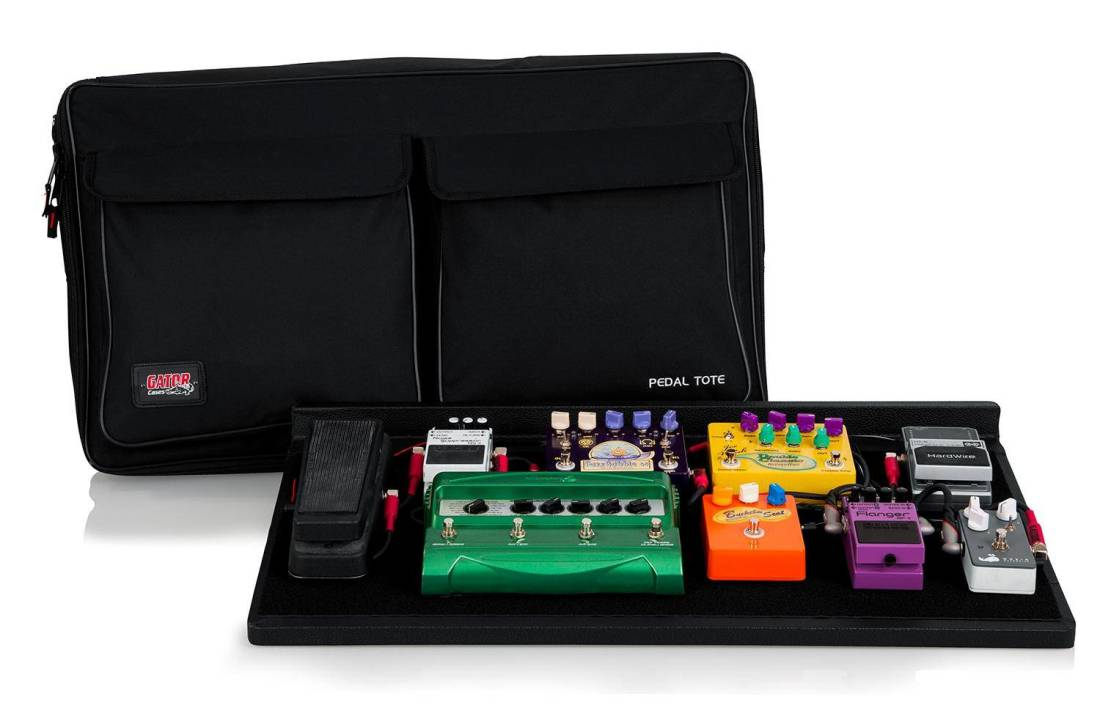 gator pedalboard w carry bag power supply pro size long mcquade musical instruments. Black Bedroom Furniture Sets. Home Design Ideas