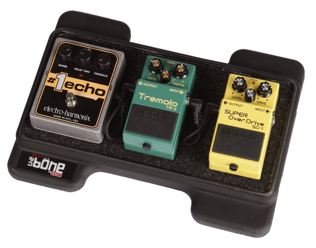 gator mini bone pedalboard w carry bag long mcquade musical instruments. Black Bedroom Furniture Sets. Home Design Ideas