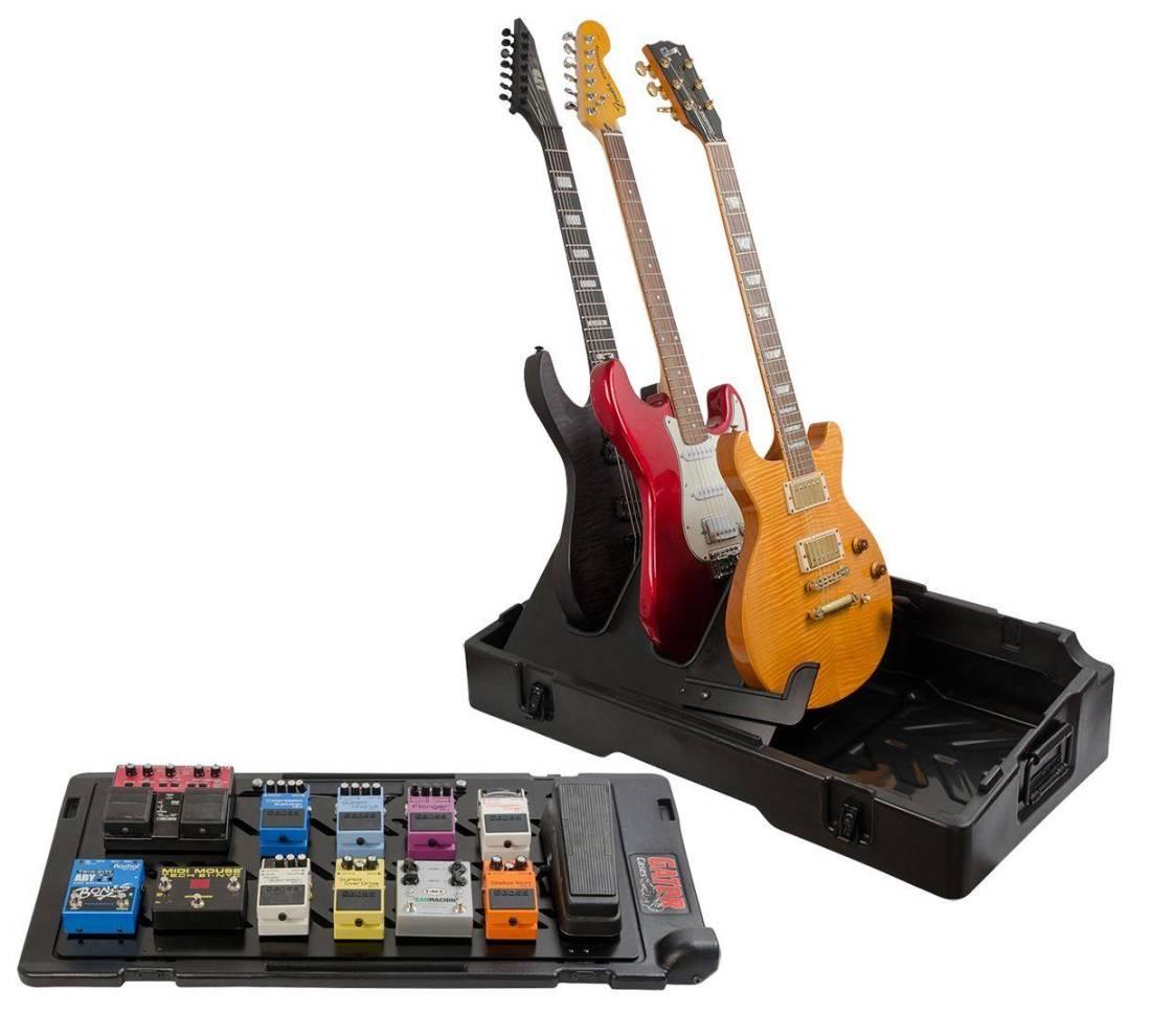 gator pedalboard guitar stand case long mcquade musical instruments. Black Bedroom Furniture Sets. Home Design Ideas