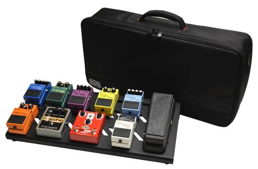 Large Aluminum Pedalboard w/ Carry Bag - Black