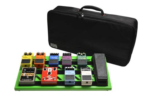 Large Aluminum Pedalboard w/ Carry Bag - Green