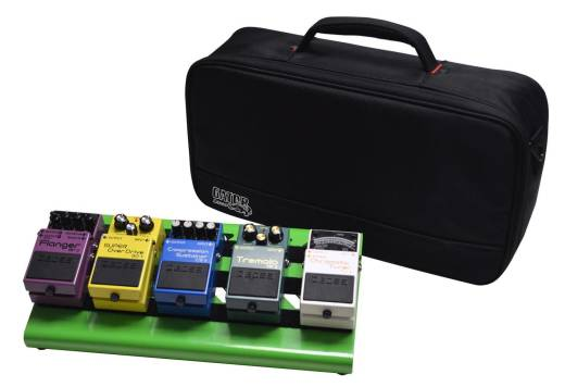 gator small aluminum pedalboard w carry bag green long mcquade musical instruments. Black Bedroom Furniture Sets. Home Design Ideas