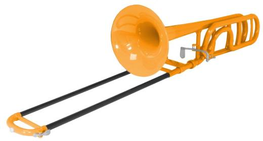 Plastic Trombone w/Rotor - Orange