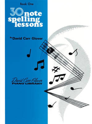 30 Notespelling Lessons, Level 1 - Glover - Piano - Book