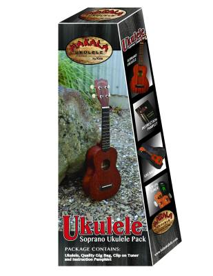 Soprano Ukulele Pack with Bag and Tuner