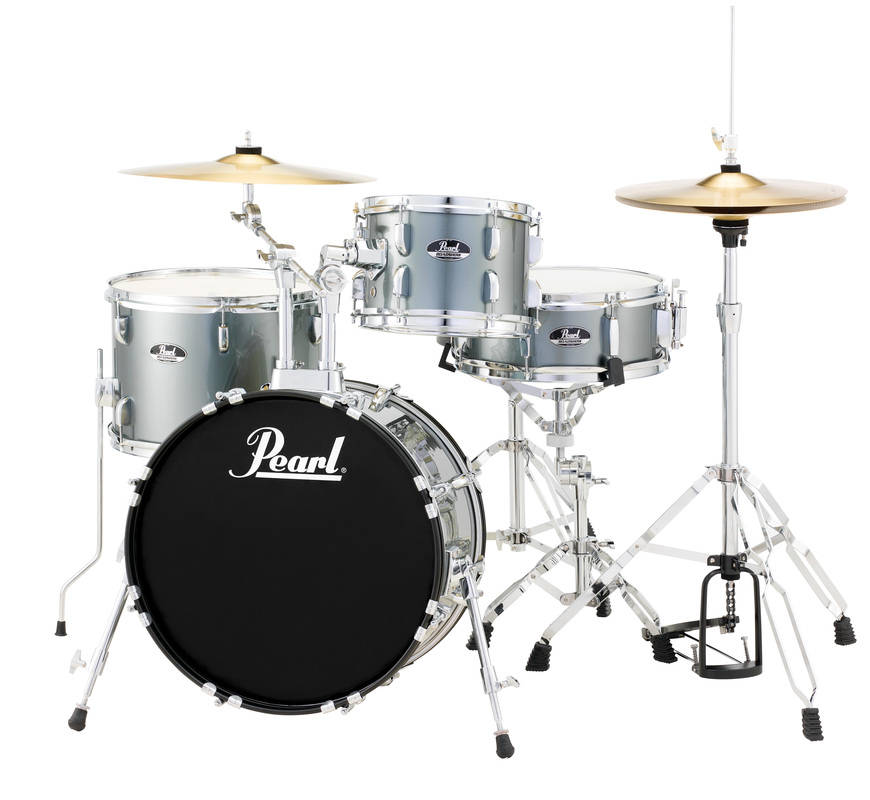 pearl roadshow drum kit w 18 10 14 snare drum hardware cymbals charcoal metallic long. Black Bedroom Furniture Sets. Home Design Ideas