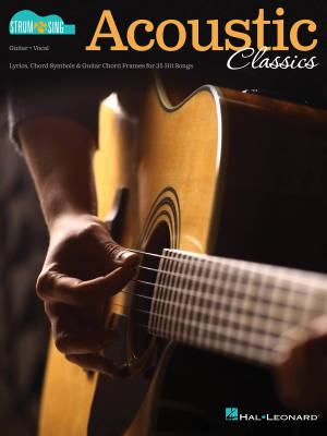 Hal Leonard Acoustic Classics: Strum & Sing Series For Guitar - Book ...
