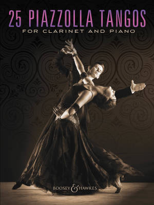 25 Piazzolla Tangos for Clarinet and Piano - Book