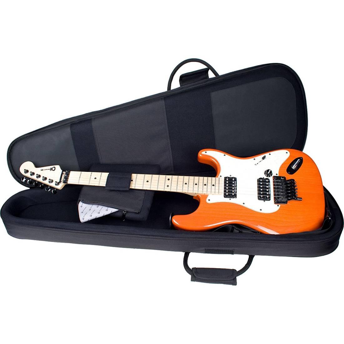 protec contego electric guitar bag black long mcquade musical instruments. Black Bedroom Furniture Sets. Home Design Ideas