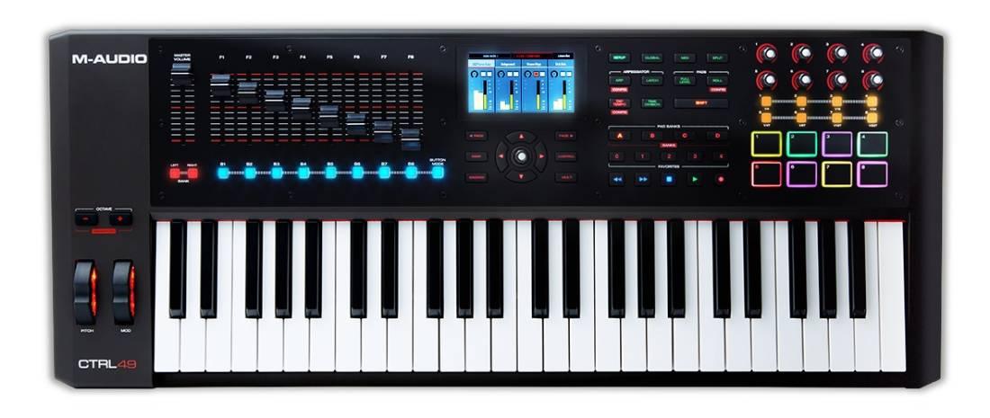Keyboard Workstation Or Midi Controller : m audio 49 key usb midi smart controller with full colour screen long mcquade musical ~ Vivirlamusica.com Haus und Dekorationen