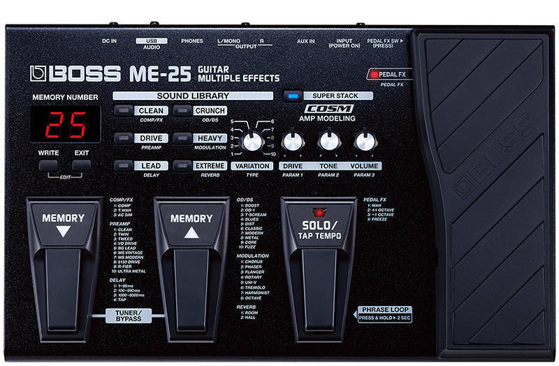boss me 25 multiple effects processor long mcquade musical instruments. Black Bedroom Furniture Sets. Home Design Ideas