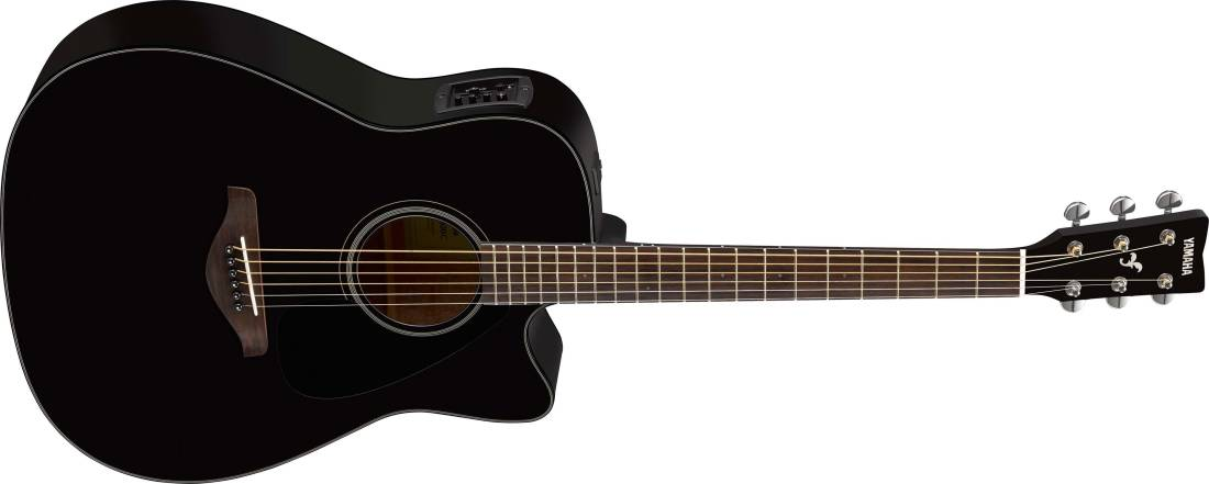 yamaha fgx800c solid spruce top dreadnought acoustic guitar w electronics black long. Black Bedroom Furniture Sets. Home Design Ideas
