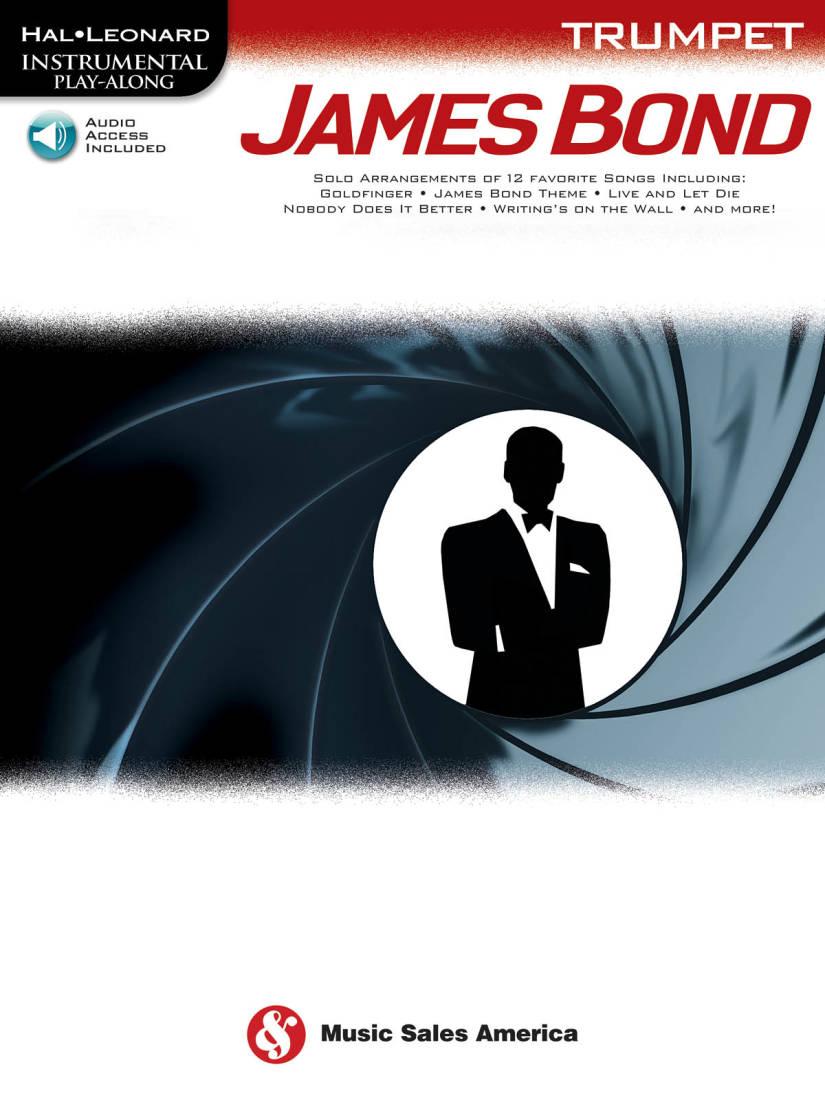 Music Sales James Bond Instrumental Play Along Trumpet Book