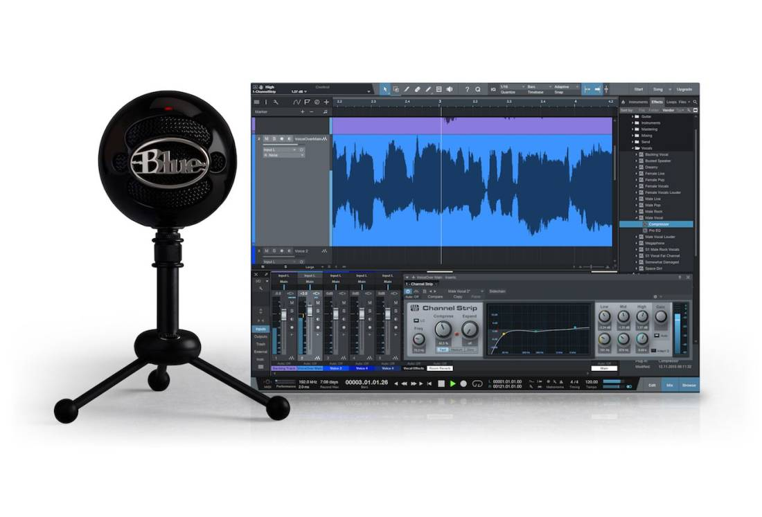Blue microphones usb microphone w studio one artist for Recording studio design software