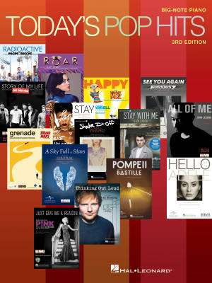 Today's Pop Hits -- 3rd Edition - Big Note Piano - Book