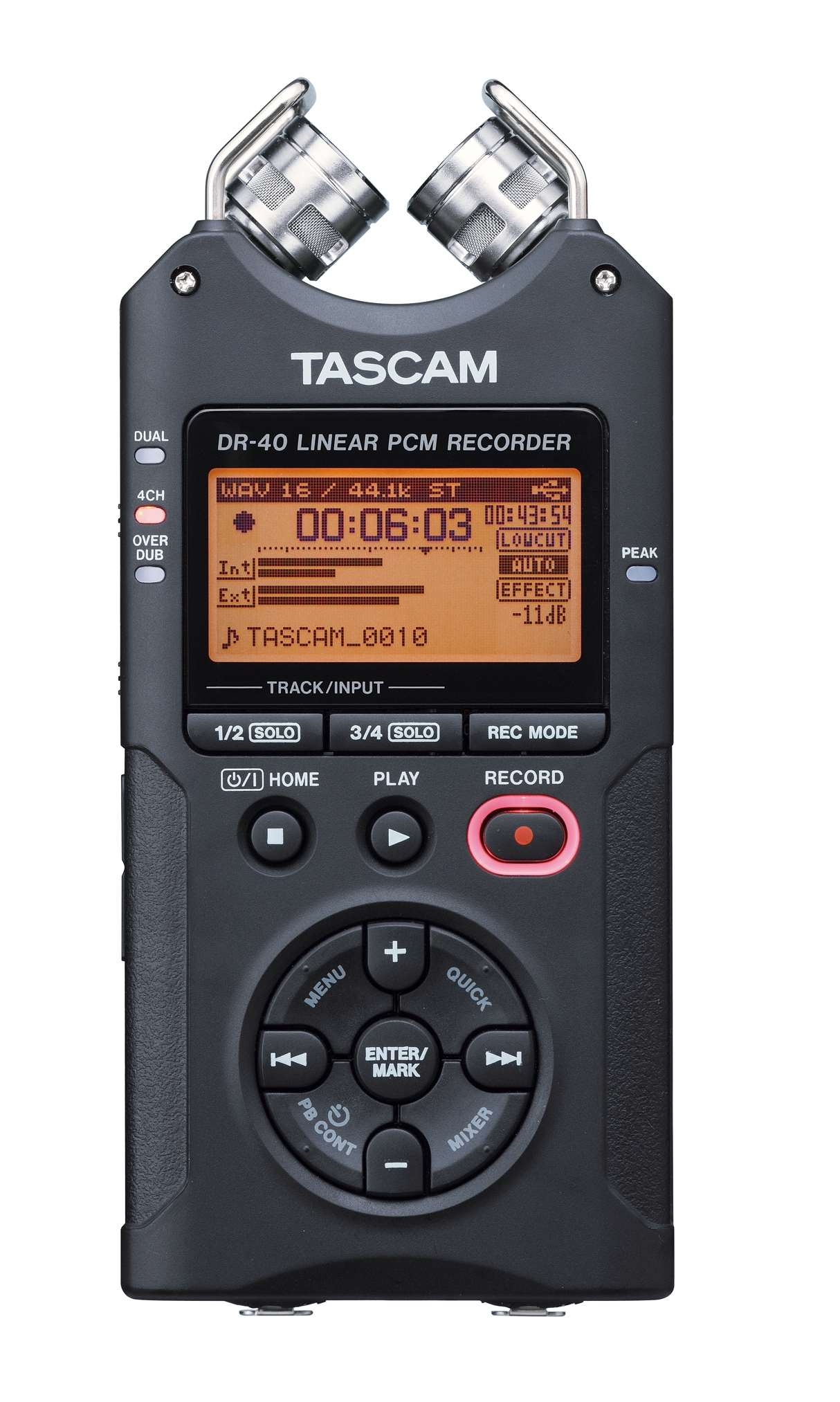 tascam dr 40 4 track pact digital recorder with xlr inputs