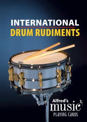 Alfred's Music Playing Cards: International Drum Rudiments - Black - Snare Drum - Card Deck