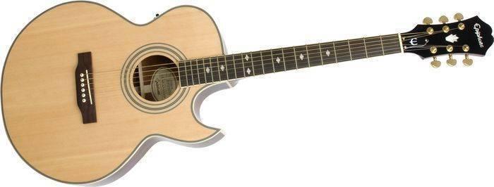 epiphone pr 5e acoustic electric natural long mcquade musical instruments. Black Bedroom Furniture Sets. Home Design Ideas
