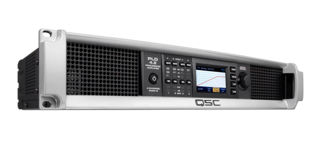 QSC - PLD4 2 4-Channel Amp with Display - 400W 8 Ohms