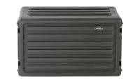 SKB - Roto-Molded 6U Shallow Rack Case with Handle - 10.5 Deep