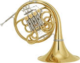 Yamaha - Custom Double French Horn, Geyer Style, Unlacquered w/Detachable Bell