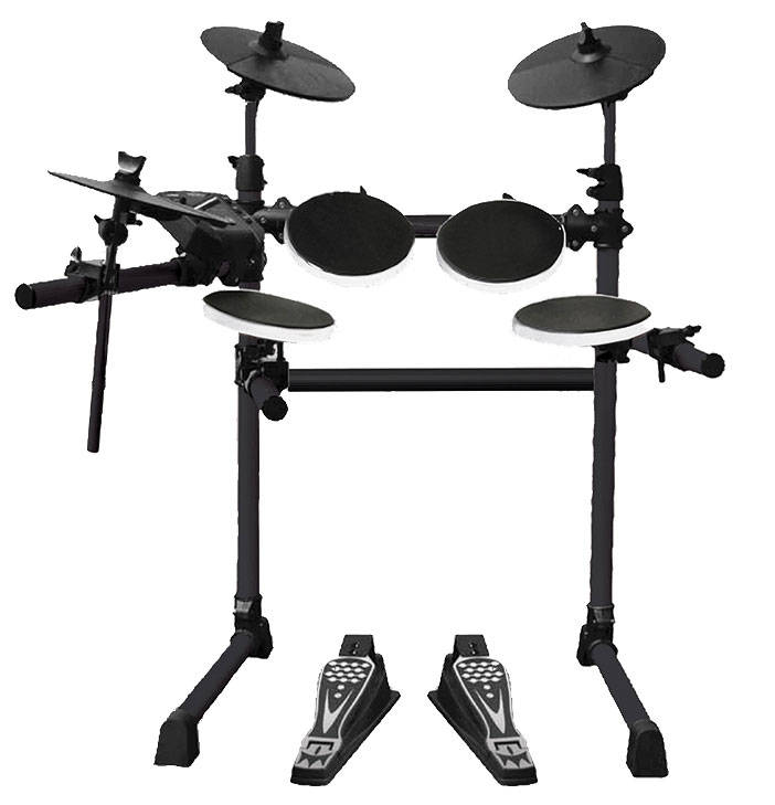 univox 5 piece electronic drum set long mcquade musical instruments. Black Bedroom Furniture Sets. Home Design Ideas