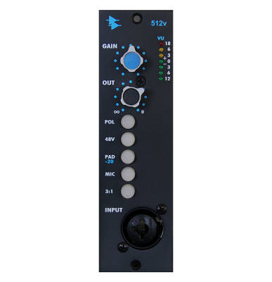 512V Discrete Mic/Line Preamp with Variable Output Level