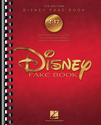 The Disney Fake Book (4th Edition) - C Instruments/Guitar/Piano, Keyboard/Vocal