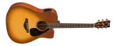 Yamaha - FGX800C Solid Spruce Top Dreadnought Acoustic Guitar w/ Electronics - Sand Burst
