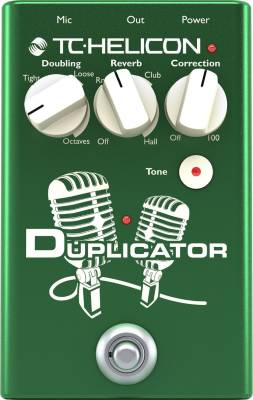 Duplicator Vocal Effects Pedal w/Doubling, Reverb and Pitch Correction