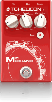 Mic Mechanic 2 Echo, Reverb and Pitch Correction Pedal