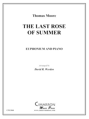 The Last Rose of Summer - Moore/Werden - Euphonium/Piano