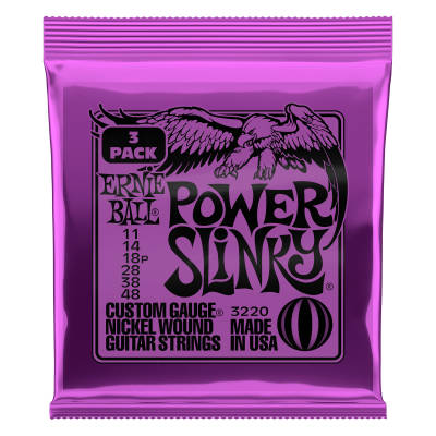 3-Pack Power Slinky Electric Strings 11-48