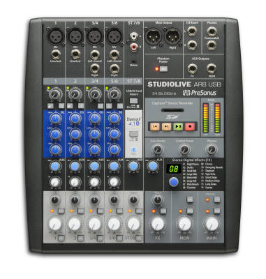 StudioLive AR8 USB 8-Channel Hybrid Mixer