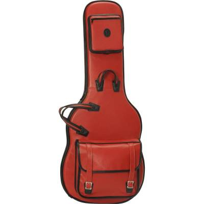 Texas Tough Leather Electric Guitar Bag - Red