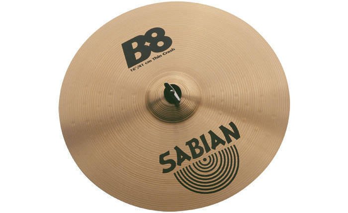 sabian b8 16 inch thin crash long mcquade musical instruments. Black Bedroom Furniture Sets. Home Design Ideas