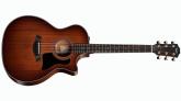 Taylor Guitars - 2017 Mahogany Cutaway Acoustic Electric Guitar w/Case