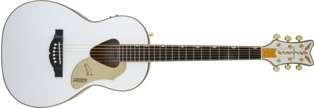 G5021WPE Rancher Penguin Parlor Acoustic/Electric, Fishman Pickup System -  White