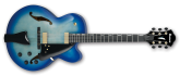 Ibanez - AFC Contemporary Archtop Hollowbody Guitar - Jet Blue Burst