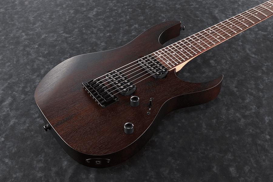 ibanez rg 7 string electric guitar walnut flat long mcquade musical instruments. Black Bedroom Furniture Sets. Home Design Ideas