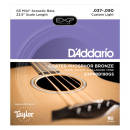 DAddario - EXP-Coated Acoustic Bass Strings, Taylor GS Mini Scale, 37-90