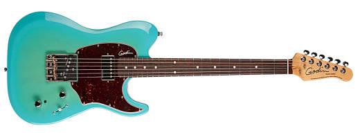 godin guitars session custom t 39 59 coral blue with rosewood fingerboard long mcquade. Black Bedroom Furniture Sets. Home Design Ideas