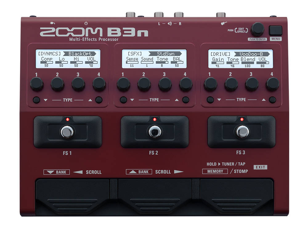 zoom b3n multi effects pedal for bass long mcquade musical instruments. Black Bedroom Furniture Sets. Home Design Ideas