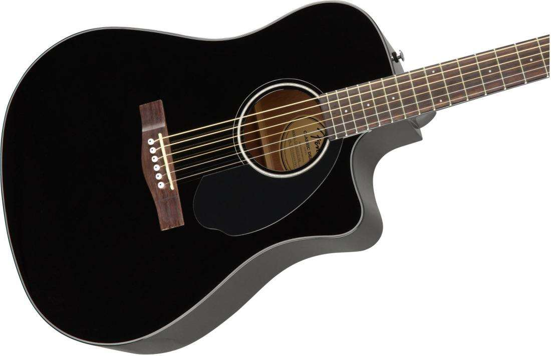fender cd 60sce dreadnought acoustic electric guitar black long mcquade musical instruments. Black Bedroom Furniture Sets. Home Design Ideas