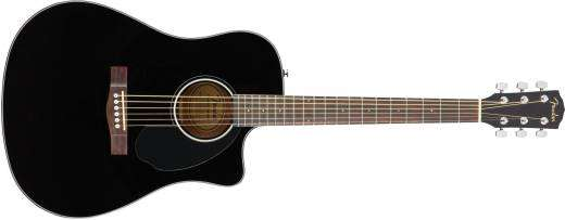 CD-60SCE Dreadnought Acoustic Electric Guitar - Black